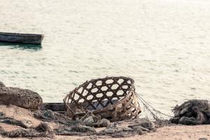 A fishing basket